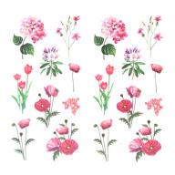 18 Blumen Sticker Pflanzen Aufkleber Vintage Küche Dekoration Scrapbooking Kinder Basteln