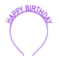 Haarreifen Happy Birthday Haarreif für Geburtstag Jubiläum Mädchen Damen Frauen Accessoire - lila