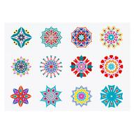 12 Mandala Sticker Blumen Aufkleber zum Spielen Basteln Scrapbooking für Kindergeburtstag Mädchen
