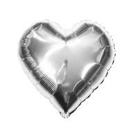 Folien Luftballon Herz Form Hochzeit JGA Hen Party Geburtstag Party - silber