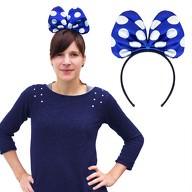 Haarreif Haarreifen große Schleife blau Minnie Mouse Fasching Karneval