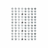 960 Sterne Sticker Stern Aufkleber für Weihnachten Weihnachtsdeko Geschenkdeko Basteln Glänzend - silber