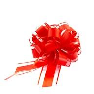 Geschenkschleife Deko Schleife für Geschenke Tüten Zuckertüte Weihnachten Geschenkdeko - rot