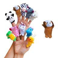 Fingerpuppen Handpuppen Baby Tier Set zum Spielen und Lernen