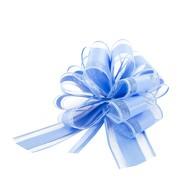 Geschenkschleife Deko Schleife für Geschenke Tüten Zuckertüte Weihnachten Geschenkdeko - hellblau