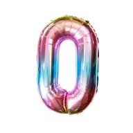 1x Folien Luftballon mit Zahl 0 Kinder Geburtstag Jubiläum Party Deko Ballon bunt