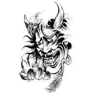 Temporäres Tattoo Klebetattoo Tättowierung - Creedy Devil