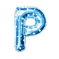 Folien Luftballon Buchstabe P Kinder Geburtstag Baby Shower Party Deko Ballon - blau