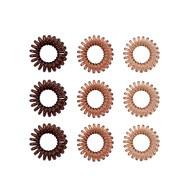 9 Spiral Haargummis Telefonkabel Zopfgummi Haarband für Mädchen Damen Frauen elastisch - braun
