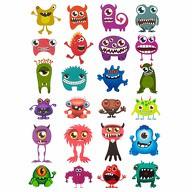 24 Monster Sticker Kinder Geburtstag Aufkleber Deko Spielspass