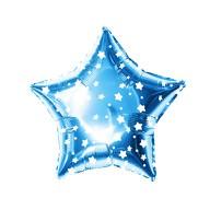 Folien Luftballon Stern Form Geburtstag Silvester Party JGA Hochzeit - blau