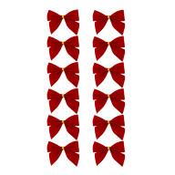 Geschenkschleifen Deko Schleifen für Geschenke Tüten Zuckertüte Weihnachten Geschenkdeko - rot