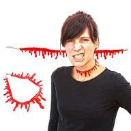 Halloween Blut Kette Blutstropfen Halskette Halsband Horror Party