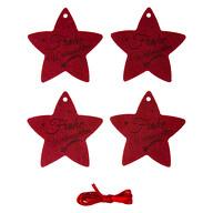 4 Filz Geschenkanhänger Sterne Frohe Weihnachten Geschenk Deko Anhänger Weihnachtsdeko Baumschmuck