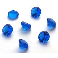 Deko Diamanten Dekosteine Hochzeit Tischdeko Dekoration 20mm - blau