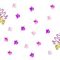 Konfetti 16 Geburtstag Jubiläum Streudeko Tisch Deko pink rosa lila 14g