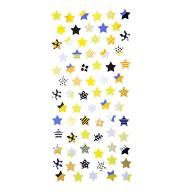 Stern Sticker Set Vintage Style Retro Sterne Aufkleber Scrapbooking Basteln Deko