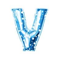 Folien Luftballon Buchstabe V Kinder Geburtstag Baby Shower Party Deko Ballon - blau