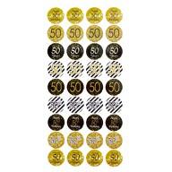 50. Geburtstag Jubiläum 108 Stk. Sticker goldene Hochzeit Aufkleber Deko