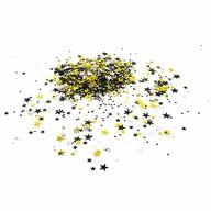 Stern Konfetti 300 Stk Tischdeko Geburtstag Party Silvester Fasching Karneval - schwarz gold silber