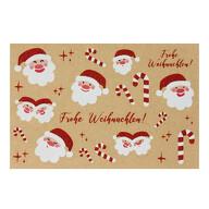 Weihnachtsmann Aufkleber Frohe Weihnachten Sticker für Weihnachten Weihnachtsaufkleber Weihnachtsdeko