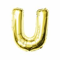 Folien Luftballon Buchstabe U Geburtstag goldene Hochzeit Party Deko Ballon - gold