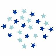 24 Holz Sterne Streudeko Tisch Deko Kinder Geburtstag Baby Shower Party blau