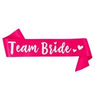 Schärpe Team Bride JGA Junggesellinnenabschied Hen Party pink