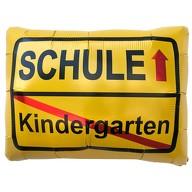 Kindergarten Schule Ortsschild Folien Luftballon für Schuleinführung Schulanfang Einschulung Ballon