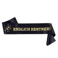 Schärpe Endlich Rentner ! Ruhestand Pensionierung Abschiedsfeier - schwarz gold