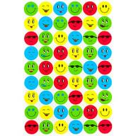 540 Smiley Sticker Set Aufkleber Lächeln Emoji Smily Face  - bunt
