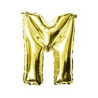 Folien Luftballon Buchstabe M Geburtstag goldene Hochzeit Party Deko Ballon - gold