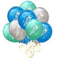 10x Luftballons Schuleinführung Einschulung Schulanfang Deko Zuckertüte ABC und 123 Motive - Farbmix