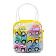 6 Spielzeugautos mit Tasche Mini Spielzeug Autos Fahrzeuge Set für Kinder zum Spielen ab 3 Jahren