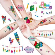 Kinder Tattoo Set Schuleinführung Einschulung temporäre Tattoos ABC 123 uvm.