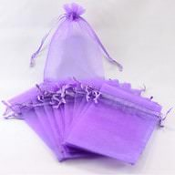 Organzasäckchen Organzabeutel Schmuckbeutel Säckchen Organza lila
