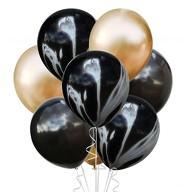 Luftballon Set 8 Stk. Geburtstag Party Jubiläum Hochzeit JGA Ballons schwarz gold