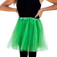Tutu Tütü Damen Rock grün Tüllrock Unterrock Kostüm Accessoire Fasching Karneval 60 cm - 116 cm