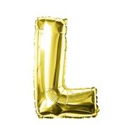 Folien Luftballon Buchstabe L Geburtstag goldene Hochzeit Party Deko Ballon - gold