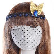 Gothic Collier Augen Maske Haarband Haarschmuck Fascinator - gold