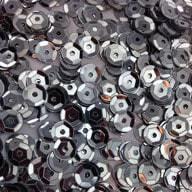 1400 Pailletten Konfetti gewölbt silber