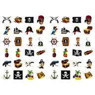 48 Piraten Sticker Aufkleber Set Deko Kinder Geburtstag
