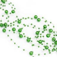 Perlenschnur Perlen Girlande Tisch Deko Hochzeit Feier Jubiläum - grün
