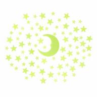 Leuchtsterne Leuchtmond Sticker Mond Sterne Aufkleber Selbstleuchtend Leuchtaufkleber Leuchtsticker