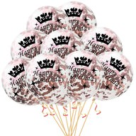 10x Konfetti Luftballons Happy Birthday Geburtstag Party Ballons