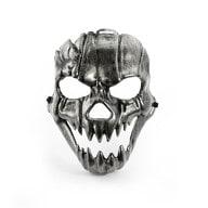 Maske Totenkopf Schädel metallisch Halloween Fasching Karneval -silber