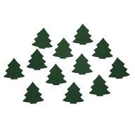 12 Holz Tannen Bäume Holzdeko Weihnachtsdeko Tischdeko Weihnachten - grün