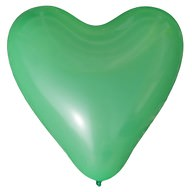 Herz Luftballons Hochzeit JGA Deko Ballon - grün