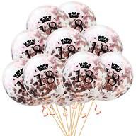 10x Konfetti Luftballons Zahl 18 Geburtstag Happy Birthday 18 Ballons