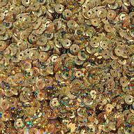 1400 Pailletten Konfetti gewölbt - gold Glitzereffekt